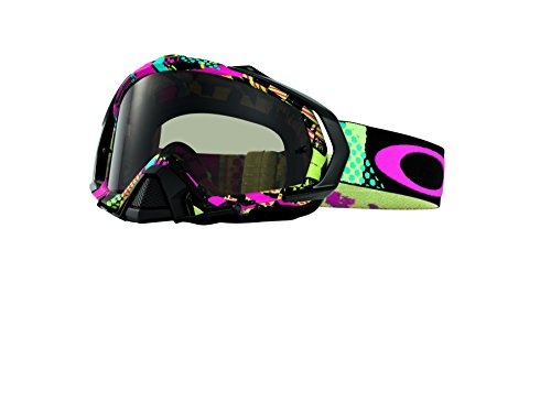 Oakley Mayhem Pro MX Mosh Pit Neon Adult Dirt MotoX Motorcycle Goggles Eyewear - Dark Grey / One Size Fits All