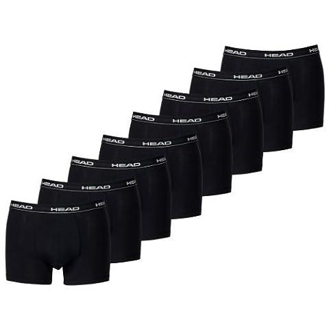 HEAD Herren Boxer Boxershort Unterhose 10er Pack in vielen Farben (Black, M)