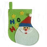 SeniorMar Patrón de Santa Calcetines de Navidad Calcetines Bolsa de Regalo de Dulces Adornos de Árbol de Navidad Decoraciones Natal de Navidad