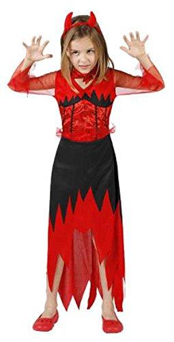 Atosa-24524 Disfraz Demonio 5-6, Color Rojo, 5 a 6 años (18168)