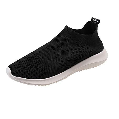 Myfilma ◔◡◔ Sommer Damenmode gestreift fliegen gewebt Socken Schuhe Stretch-Tuch Größe Freizeitschuhe EIN Pedal leichte Sportschuhe