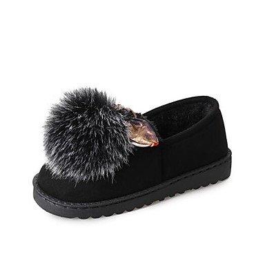 Wuyulunbi @ Zapatos Mujer Caída De Goma Zapatos Pom-pom Comodidad Pisos Para Casual Morado Verde Negro Us7.5 / Eu38 / Uk5.5 / Cn38