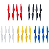 Anbee 5-colors Propellers Colored Props Blades for Tello Drone, Pack of 5 Set (Red/White/Blue/Black/Yellow)