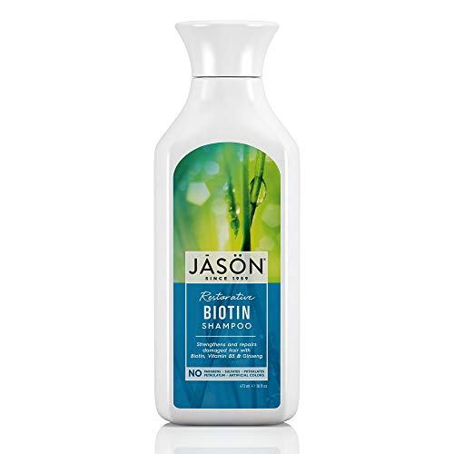 Jason Natural Products Natural Biotin Shampoo, 473 ml - Jason Shampoo Conditioner