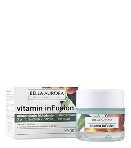 Bella Aurora Vitamin inFusion Concentrado Hidratante Multivitamínico Anti-Edad Crema Facial Día Anti-Arrugas para Mujer Redensifica + Regenera + Detox