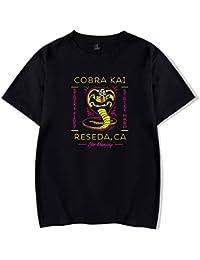 SIMYJOY Cobra Kai Retro Camiseta Karate Tshirt Cool TV Drama Top para Hombre Mujer Adolescente