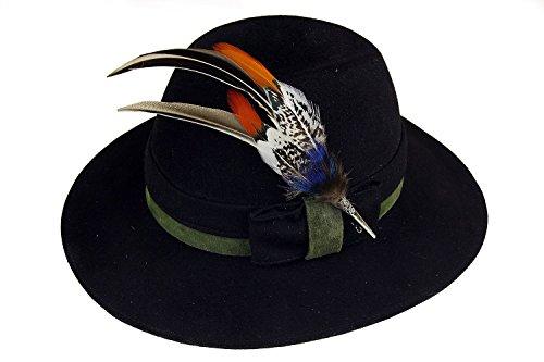 Gollwitzer Schmuckfedern Echte Hutfeder von Fasan, Pfau und Ente, mit Hülse, für den Trachtenhut