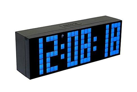 Große digitale Led-Anzeigetafel Countdown-Funktion Snooze Wecker , blue
