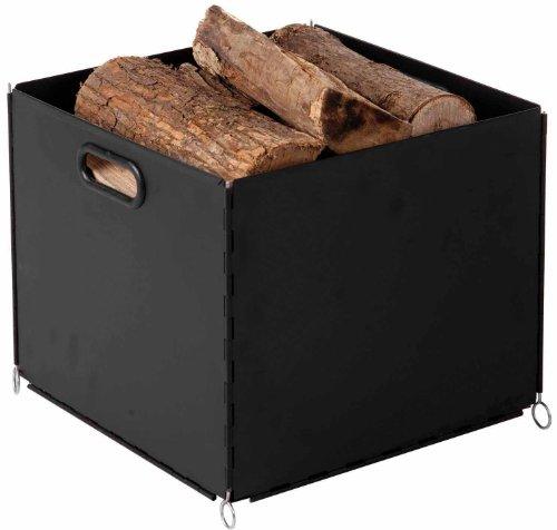 EiFi Holzkorb 34 x 34 cm schwarz 2002250