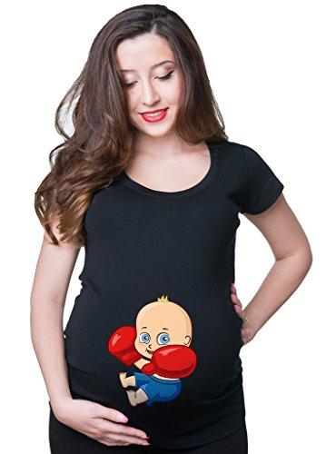 Milky Way Tshirts Frauen-Boxer Baby-T-Shirt Lustiges T-Shirt Trainings-T-Stück XX-Large Schwarz (T-stücke Lustig Mutterschaft)