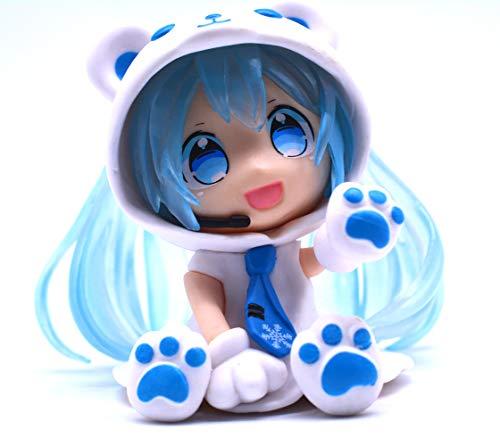 Anime Domain Vocaloid Chibi Figur von Miku Hatsune im Eisbär Kostüm (Blau) (Hatsune Miku Anime Kostüm)