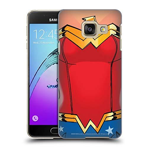 Head Case Designs Offizielle Wonder Woman DC Comics Kostuem Logos Harte Rueckseiten Huelle kompatibel mit Samsung Galaxy A3 (2016)