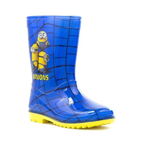 Despicable Me - Ich – Einfach unverbesserlich Minions Kinder Blau & Gelb Gummistiefel - Größe 30 - (Me Schuhe Despicable)