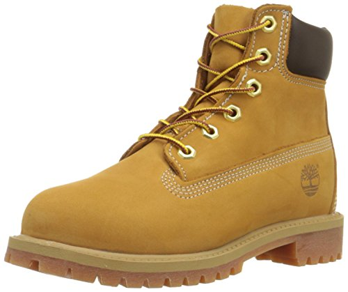 Timberland Stivali 6 In Classic Boot FTC_6 In Premium WP Boot, Stivali Unisex Bambino, Giallo (Wheat Nubuck), 38