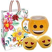 puc-kator Set Regalo Emoticon Smile Tazza MUG219 + Pantofole SLIP05 + Busta  Shopper + ddfd8d8b6f3b