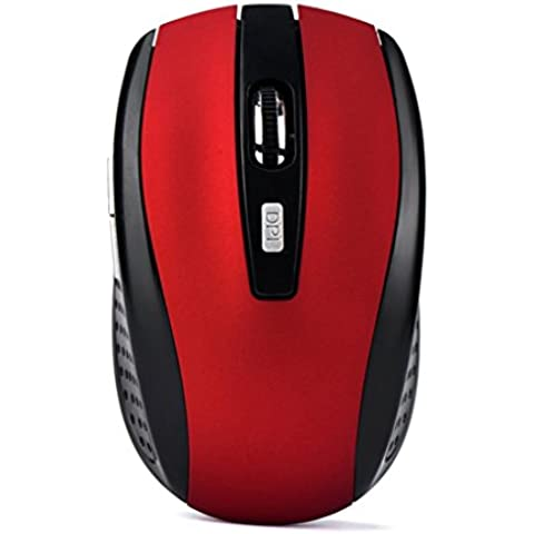 Gaming Mouse, lanowo Multicolor 2000 DPI, 2.4 GHz Wireless Optical Gaming Mouse per PC portatile, 100 x 60 x 35 mm