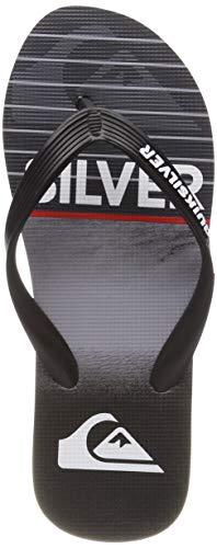 Quiksilver Molokai Highline Slab, Zapatos de Playa y Piscina para Hombre, Negro Black/Grey Xkks, 43 EU