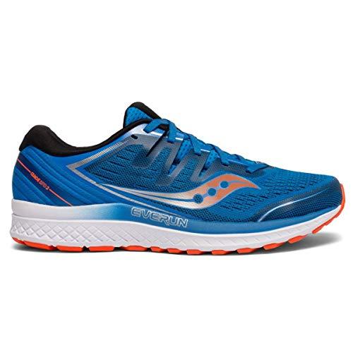 Saucony Guide ISO 2 - Zapatillas de Running para Hombre, Azul y Naranja, 41