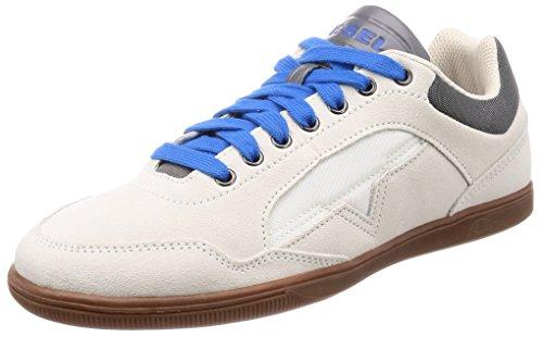 Diesel s-happy low, scarpe da ginnastica basse uomo, bianco (off/white t1015), 42 eu