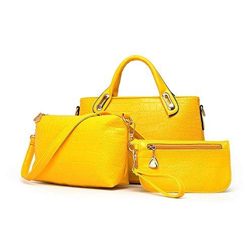 ZUNIYAMAMA, Borsa a mano donna M Yellow