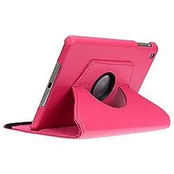doupi Deluxe 360 Grad drehbare Smart Schutzhülle aus Kunstleder  Ein perfekter Rundumschutz für Ihr Tablet.    360 Grad drehbar! Perfekte Kombination von Schutzülle und Ständer zur Betrachtung von Videos, Fotos und Texten! Quer- und hochkant aufstell...