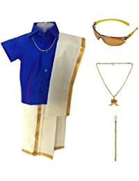 Amirtha Fashion Boys Traditional Dhoti & Shirt Set(AMFCMBD)