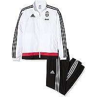 adidas Tuta da uomo, divisa Juventus , Uomo, Juventus Turin Präsentationsanzug - weiß, White/Black/Bripnk, M