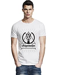 Jagermeister Black Logo Raw Edge T-shirt