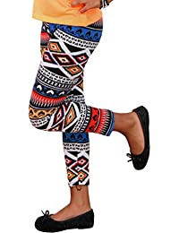 Kinder THERMO LEGGINS Winter Hose Norweger Aztec Leggings Neu