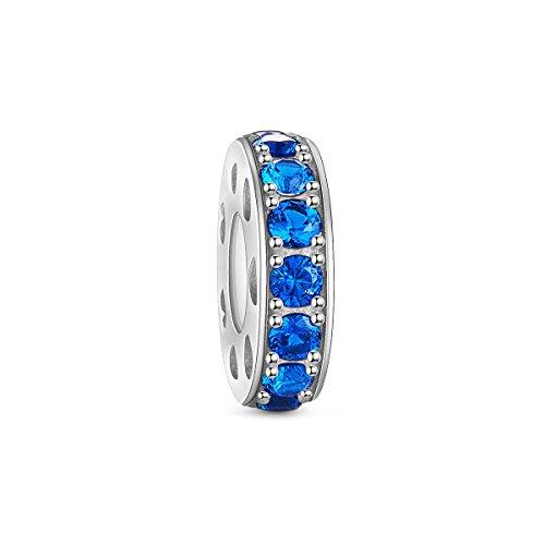 TinySand in argento Sterling 925 con zirconi cubici azzurro chiaro tappo braccialetti Pandora gioielli