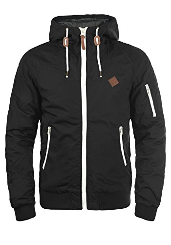 !Solid Tilly Herren Übergangsjacke Herrenjacke Jacke mit Kapuze, Größe:M, Farbe:Black (9000)