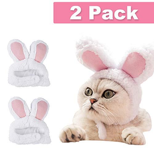 Lapus Osterkostüm für Hunde und Katzen, verstellbare Größe, Hasenohren, Welpen, Oster-Outfit, spannendes Geschenk für Ostern Cosplay