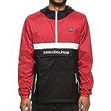 Pink Dolphin Men's Starter Anorack Half-Zip Windbreaker Jacket Black XL