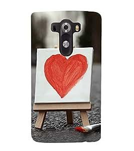 Bright Red Heart 3D Hard Polycarbonate Designer Back Case Cover for LG G3 :: LG G3 Dual LTE :: LG G3 D855 D850 D851 D852