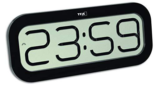 TFA Dostmann Bim Bam Funk-Wanduhr mit Stundenschlag 60.4514.01 schwarz
