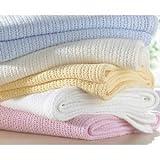 Super Luxus Qualität Paar 100% reine Baumwolle Cellular Babydecke für Kinderwagen Moses Korb für...