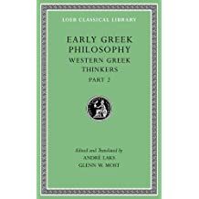 Early Greek Philosophy, Volume V: Western Greek Thinkers, Part 2 (Loeb Classical Library, Band 528)