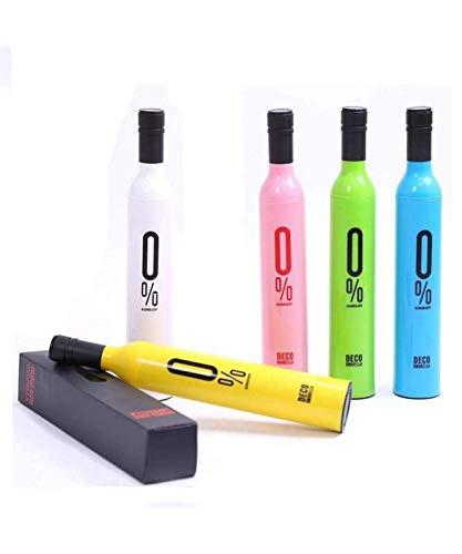 RIYA Products Folding Portable Wine Bottle Umbrella with Plastic Case Model 151125