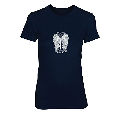 Daryl Wings - Damen T-Shirt Dunkelblau
