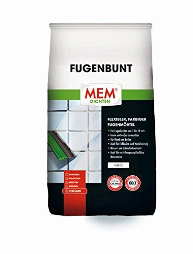 MEM Fugenbunt 2 kg weiß - Flexibler Fugenmörtel für innen und außen