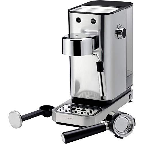 WMF Lumero Siebträger Espressomaschine (1400 Watt, mit 3 Einsätzen, für 1-2 Tassen Espresso, auch für Pads, 15 bar, Tassenabstellfläche, Milchaufschäumdüse) -