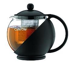 Idea Regalo - Café Ole Everyday CMP-07TP, Infusore Teiera con Cesto, Nero, 700 ml/24 oz