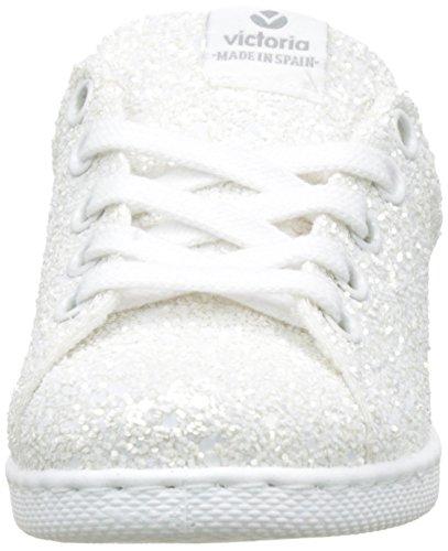 Victoria Deportivo Glitter, Baskets Basses Fille Blanc (Blanco)