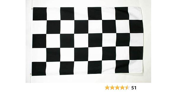 Az Flag Flagge Zielflagge Schwarzes Und Weisses 150x90cm Schwarz Weisse Rennflagge Fahne 90 X 150 Cm Feiner Polyester Flaggen Garten