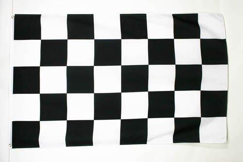 BANDIERA A SCACCHI BIANCHI E NERI 150x90cm - BANDIERA GARA AUTOMOBILISTIA 90 x 150 cm - AZ FLAG