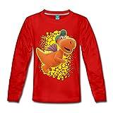 Spreadshirt Der Kleine Drache Kokosnuss Fliegt Kinder Premium Langarmshirt, 110/116 (4 Jahre), Rot