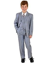 5piezas niños Traje Traje de comunión Baby Traje taufanzug Traje Gris con rayas Talla 80A 158
