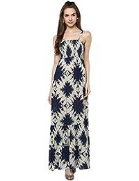 Taurus Women's Rayon Ivory Mystical Dress