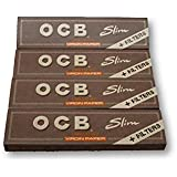 OCB Virgin Unleached King Size SLIM Rolling Papers + Filters Pack Of 4 Booklets From SUDESH ENTERPRISES
