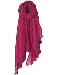 Kimruida Femmes Couleur Coton Longue écharpe Wrap Vintage Lin Grand Châle  Voile élégant 871358c4ae2